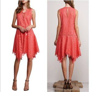 ** Adelyn Rae Suzanne Coral Lace Shift Dress NWT